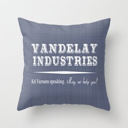 Vandelay Industries - May we help you? Seinfeld Home Decor Throw Pillow
