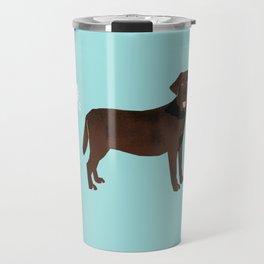 Chocolate Lab funny fart dog breed gifts labrador retrievers Travel Mug