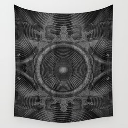 Black and white music speakers Wall Tapestry
