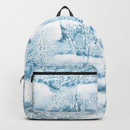 Blue marble streaked wash drawing Backpack