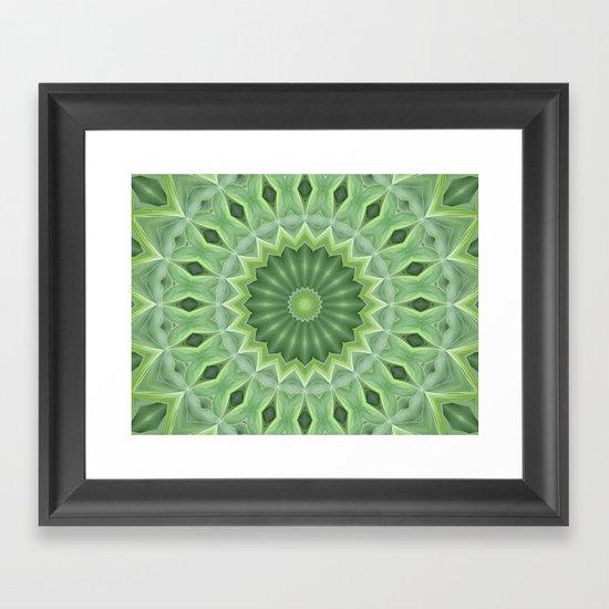 Green Beauty Framed Art Print