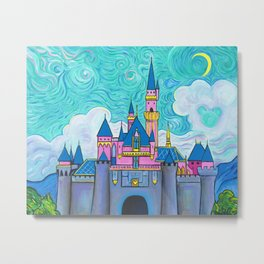 Sleeping Beauty Castle At Disneyland Metal Print