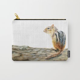 Little Chip - a painting of a Chipmunk by Teresa Thompson Carry-All Pouch