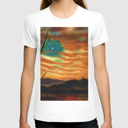 Our Banner in the Sky by Frederic Irwin Church T-shirt