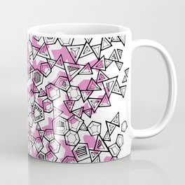 Oddgon and Angular Cluster in Pink Coffee Mug