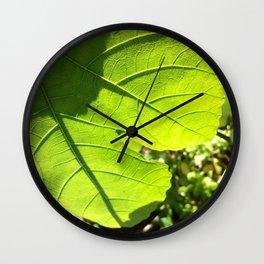 Fig leaf Wall Clock