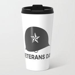 Veterans Day Commemorative Soldier Helmet Star Travel Mug
