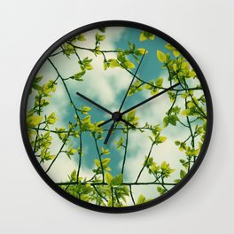 Happy Green Spring Wall Clock