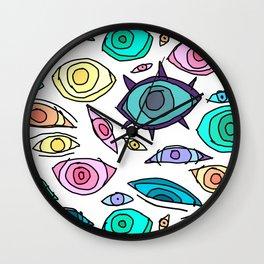 Cosmic Eyes On You Wall Clock