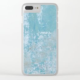 Vintage Galvanized Metal Clear iPhone Case