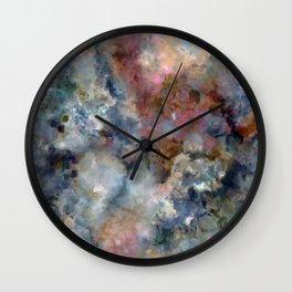 Colorful watercolor nebula onyx Wall Clock