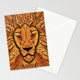 Fiery Lion Stationery Cards