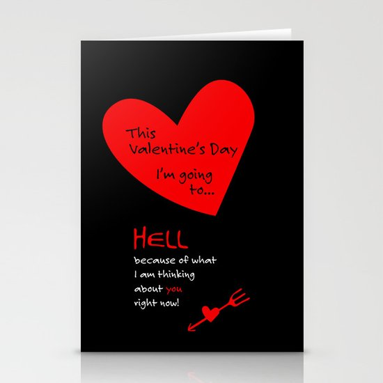 This Valentine's Day I'm Going to... HELL Stationery Cards