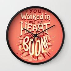 Heart went boom Wall Clock