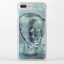 Glasmensch im Internet Clear iPhone Case