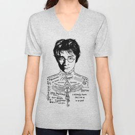 Harry Tattoo Potter Unisex V-Neck