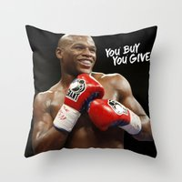 floyd Throw Pillows featuring Floyd #1 by YBYG