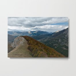 Abruzzo National Park from above Metal Print