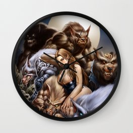 """Ravenous """"QUEEN of WOLVES""""  Wall Clock"""