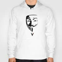 vendetta Hoodies featuring Vendetta by The Vector Studio