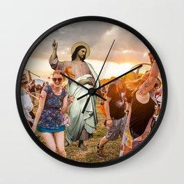 Jesus Raver Wall Clock