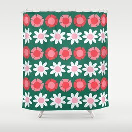 Peggy Green Shower Curtain