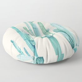 Three Amigos Turquoise + Coral Floor Pillow