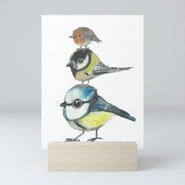 Tree Little Birds Mini Art Print