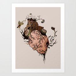 Carnivorous Plant Heart Art Print