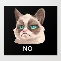 grumpy Canvas Prints featuring Grumpy by Corelle_Vairel