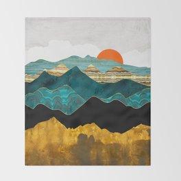 Turquoise Vista Throw Blanket