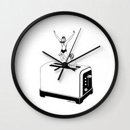 1 Minute Tan Wall Clock