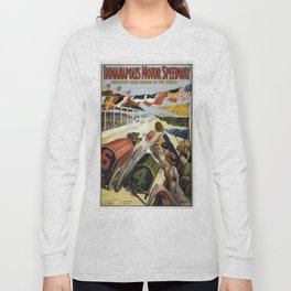 Vintage poster - Indianapolis Motor Speedway Long Sleeve T-shirt