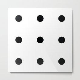 Nine Black Circles Metal Print