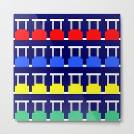 8-Bit People Move Metal Print