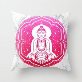 Buda Gautama, Siddharta Gautama, Sakiamuni (pink) Throw Pillow