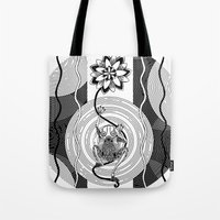 frog Tote Bags featuring Frog by alicanto