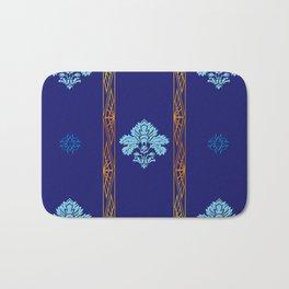 Chic Classique Art Deco Mediterranean blue Bath Mat
