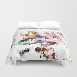 Decorative Subdued Pastel Pattern Abstract Duvet Cover