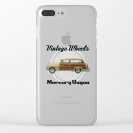 Vintage Wheels: Mercury Wagon (black) Clear iPhone Case