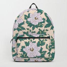 White Peonies Backpack