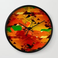 blackhawks Wall Clocks featuring Here come the... by KRArtwork