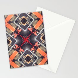 Orange Automotive Abstract Stationery Cards