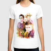 david tennant T-shirts featuring David Tennant / Tenth Doctor Mixed Media Digital Painting by Purshue