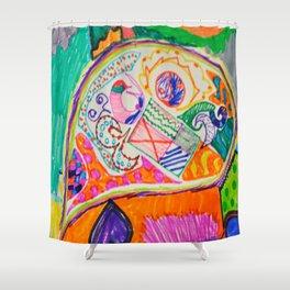 Pop Up Art Shower Curtain
