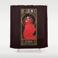 Lydia Nouveau - Beetlejuice Shower Curtain