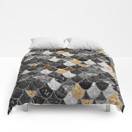 REALLY MERMAID BLACK GOLD Comforters