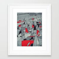 porsche Framed Art Prints featuring Porsche Racing by Ale Giorgini