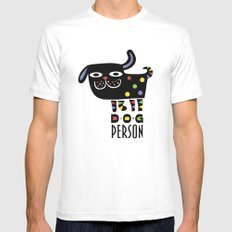 Dog Person MEDIUM White Mens Fitted Tee