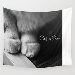 Cat is love Wall Tapestry